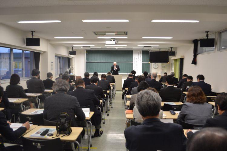 弘前商工会議所会頭による講演会