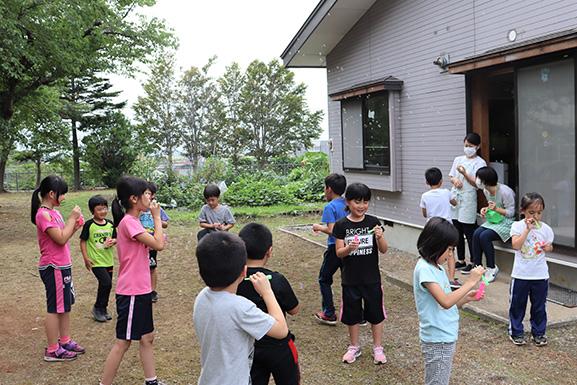 中泊町内にある児童クラブ視察